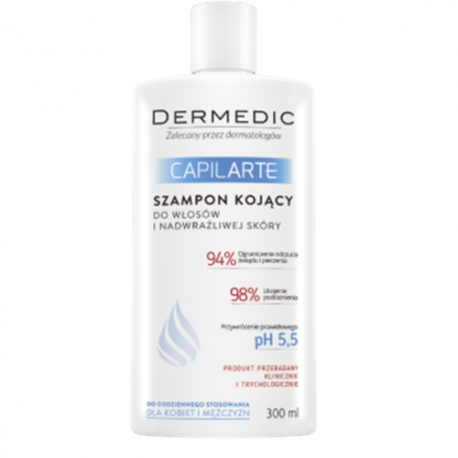 Dermedic Capilarte * Szampon kojący * do włosów i nadwrażliwej skóry  * 300 ml