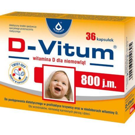 D-Vitum - 800 j.m * 36 kapsułek twist off