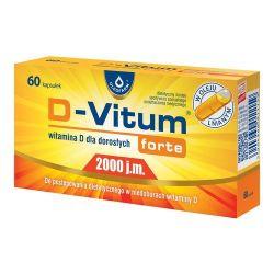 D-Vitum Forte - 2000 j . m * 60 kapsułek
