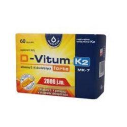 D-Vitum Forte + K2-MK7 * 2000 j.m * 60 kapsułek