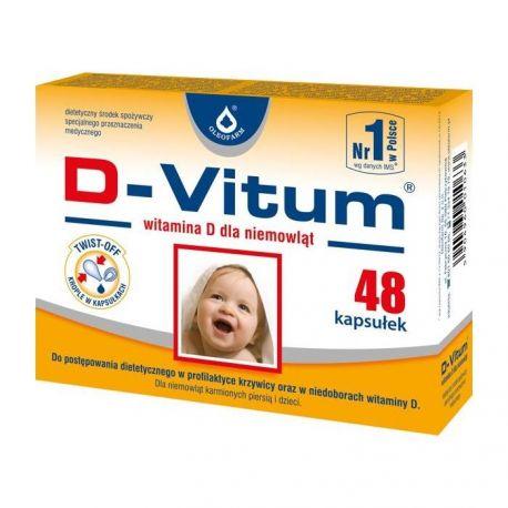 D-Vitum - 400 j.m * 48 kapsułek twist off