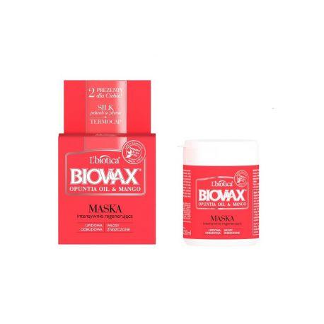 Biovax Opuntia Oil i Mango * maska intensywnie regenerująca * 250 ml