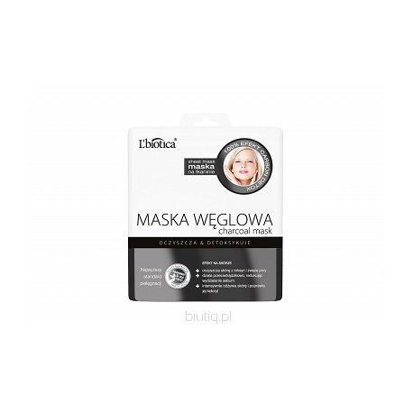 L Biotica * maska węglowa na tkaninie * 1 sztuka