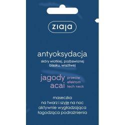 Ziaja - Jagody Acai * maska wygładzająco-łagodząca na noc * 7ml