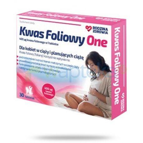 Rodzina Zdrowia - Kwas Foliowy One * 30 tabletek