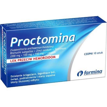 Proctomina - czopki * 10 sztuk