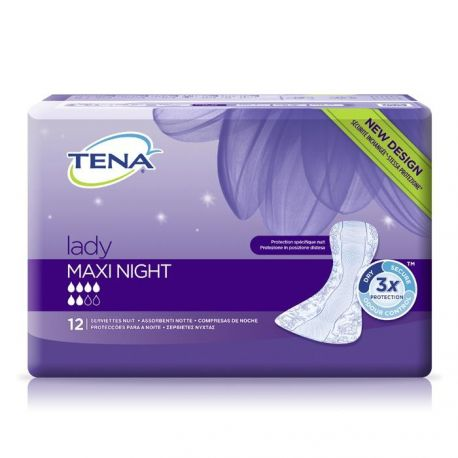 Tena Lady Maxi Night * wkłady anatomiczne * 12 sztuk