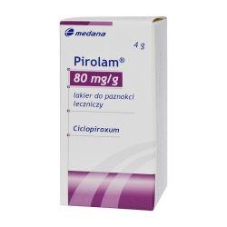Pirolam 80mg /g * leczniczy lakier do paznokci * 4 g