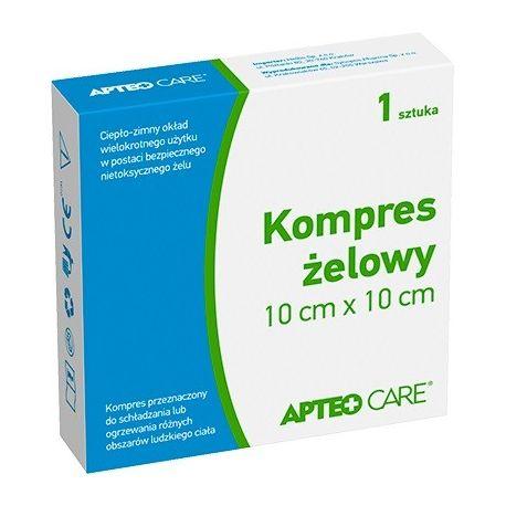 Kompres żelowy - Apteo Care * 10 cm X 10 cm * 1 sztuka