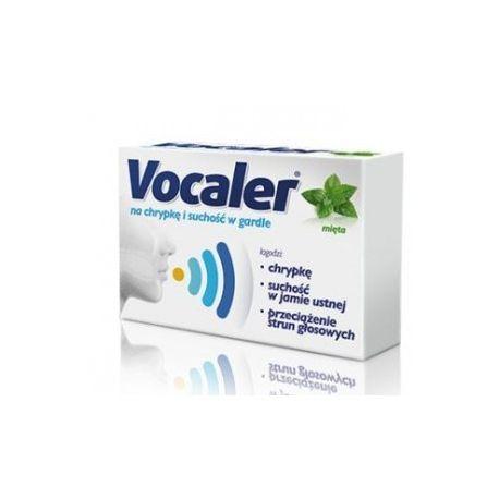 Vocaler - pastylki do ssania *smak miętowy * 12 sztuk