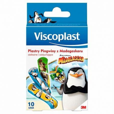 Viscoplast - Pingwiny z Madagaskaru * plastry ochronne dla dzieci * 10 sztuk