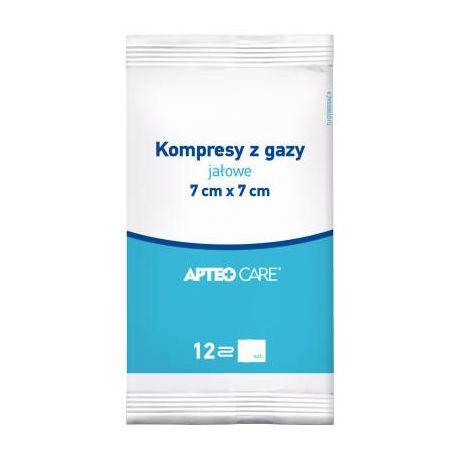 Apteo Care *kompresy gazowe jałowe 7x7 cm *1 opak.-3 sztuki