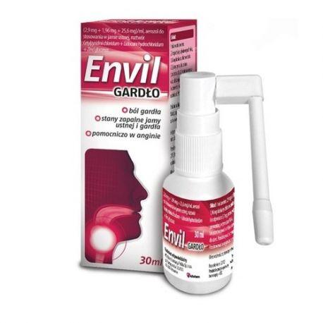 Envil Gardło * aerozol do stosowania w jamie ustnej * 30ml