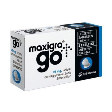 Maxigra Go * Sildenafil 25mg * 2 tabletki