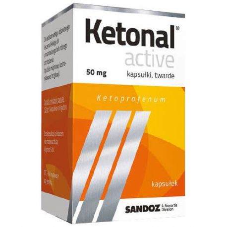 Ketonal Activ * 50 mg * 10 kapsułek