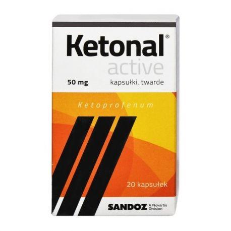 Ketonal Activ * 50 mg * 20 kapsułek