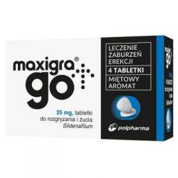 Maxigra Go * Sildenafil 25mg * 4 tabletki