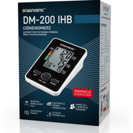 Diagnostic DM - 200 IHB * ciśnieniomierz automatyczny naramienny  * 1 sztuka