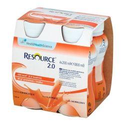 Resource 2.0 Fibre * płyn o smaku morelowym * 4X 200 ml