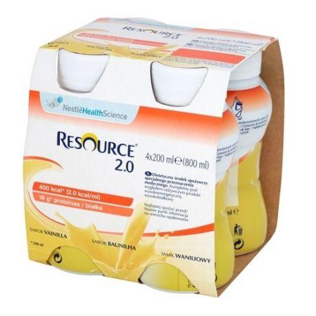 Resource 2.0 Fibre * płyn o smaku waniliowym 4X 200 ml