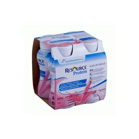 Resource Protein * płyn o smaku truskawkowym * 4X 200 ml