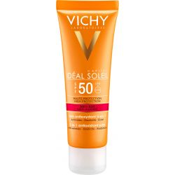 Vichy Ideal Soleil * krem przeciwstarzeniowy do twarzy 3 w 1 SPF 50 * 50 ml