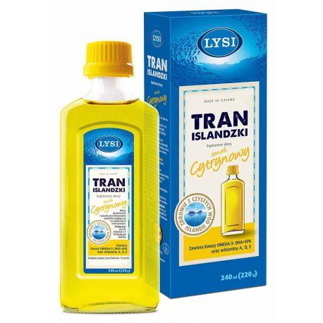LYSI Tran Islandzki * smak cytrynowy * 240 ml