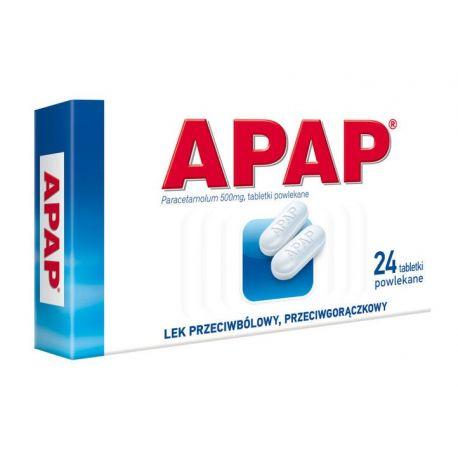 Apap 0,5 g * 24 tabletki