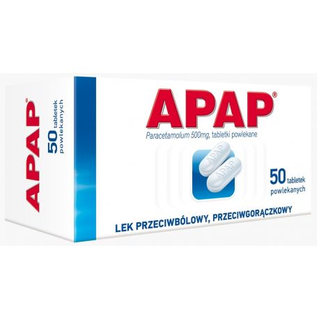 Apap 0,5 g * 50 tabletek